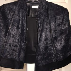 Other - Couture leather and feather caplet gorgeous!